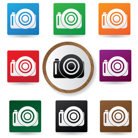 Camera symbol,Color buttons,vector Illustration