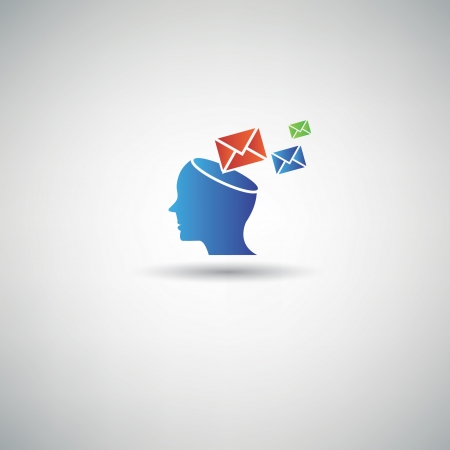 Email on head symbol,vector Vector