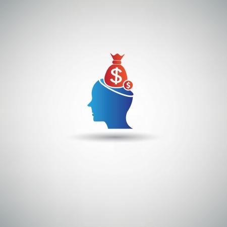 Finance on head symbol,vector Stock Vector - 22521662