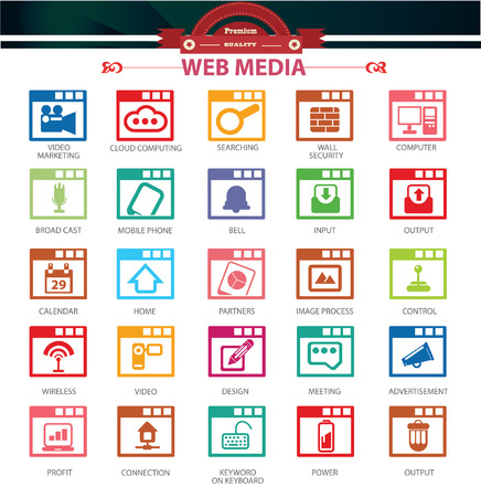 input output: Software,Applicatio n and website icons,Colorful version,vector