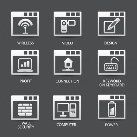 Web,software icons,version 02,vector Vector