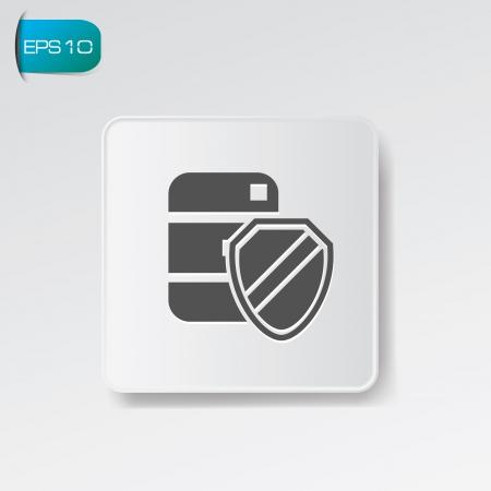 Security data button,vector Vector