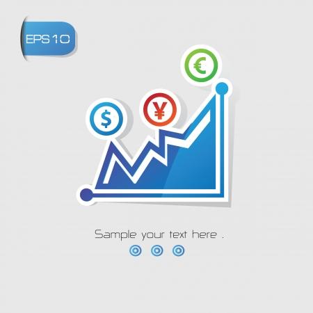 Finance analysis symbol,vector