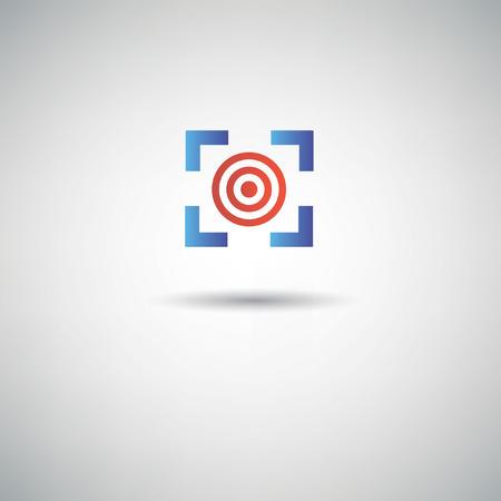 circulos concentricos: Target dardo símbolo, vector