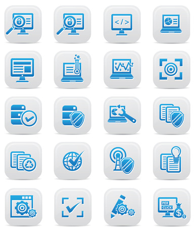 The seo and Marketing icons,Blue version,vector Stock Vector - 22658600