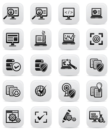 The seo and Marketing icons,Black version,vector Vector