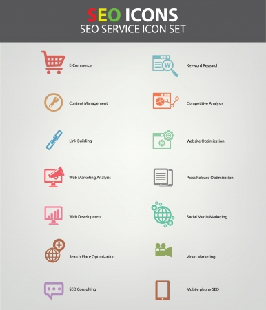 Seo icons Stock Vector - 22739009