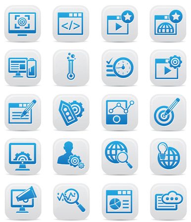Advertisement icons,Blue version,vector Vector