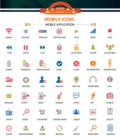 Mobile and Application icons,vector Vector