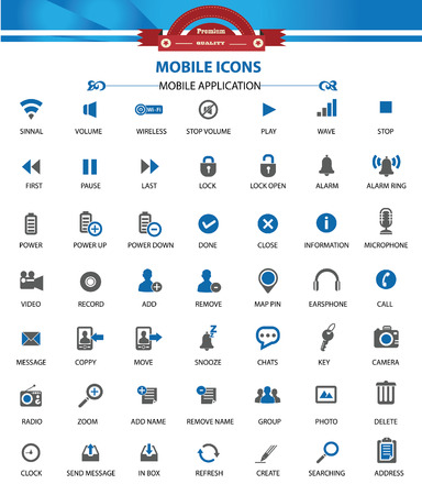 Web and Mobile icons,Blue version,vector Stock Vector - 22658667
