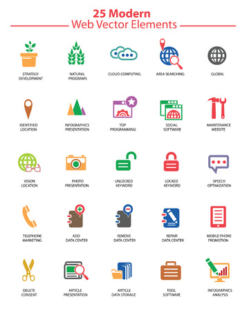 Modern Website   marketing icons,Colorful version,vector Stock Vector - 22658732