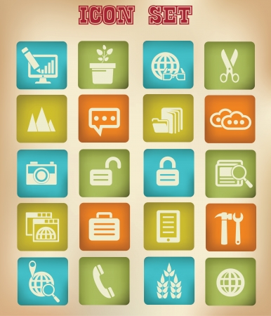 Modern Website   marketing icons,Vintage version,vector Vector