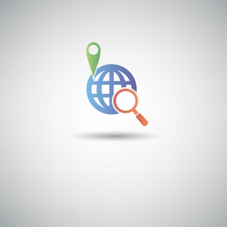 Location Searching symbol Stock Vector - 22639988