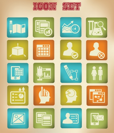 Business,Marketing   Advertise icons,Vintage version Vector