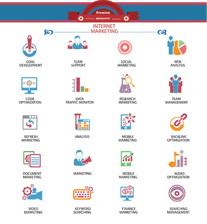 microblogging: Internet Marketing icons