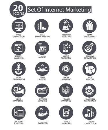 content marketing: Internet Marketing icons,Gray version