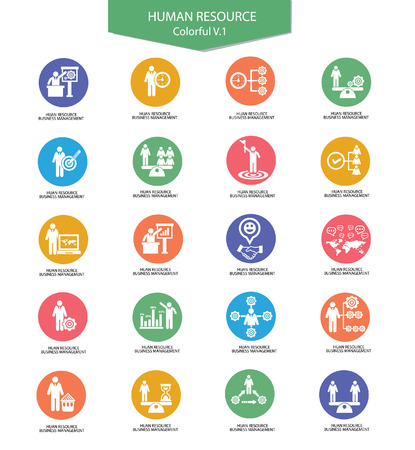 collaboration: Human resource icons,Business concept,Colorful version 1