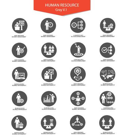 Human resource,Businessman icons,vector Illustration
