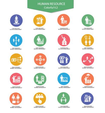 mastercard: Human resource,Businessman icons,vector Illustration