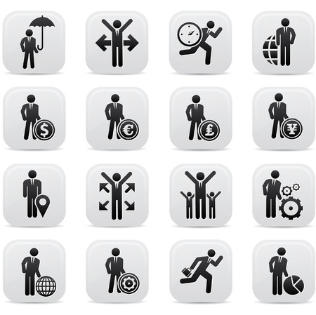 group  accountant: Human resource,Businessma n icons,Black version,vector