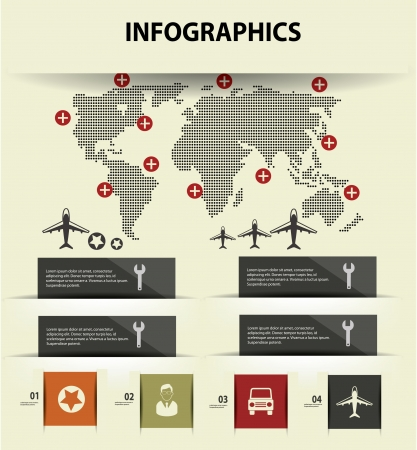 Map and transport concept infographics design,vector Vector