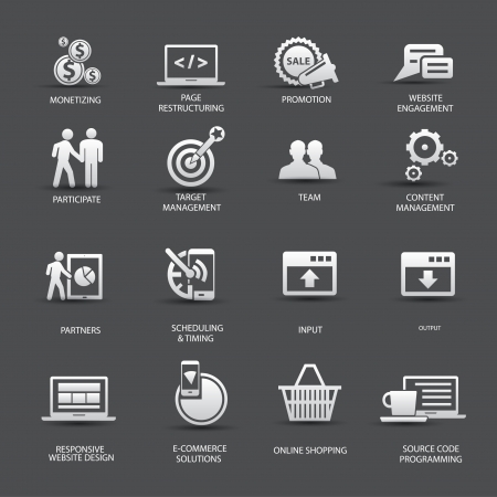 Set of SEO icons,vector Vector