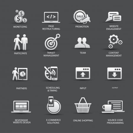 monetizing: Set of SEO icons,vector
