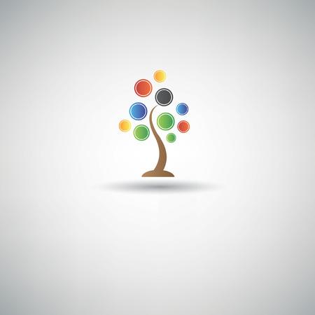 Tree design symbol,vector Vector