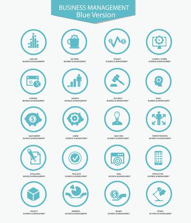 teamwork icon: Business Management icons,Blue version,vector Illustration