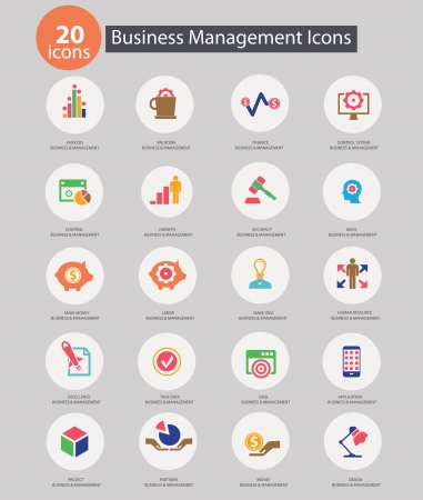 Business Management icons,Colorful version,vector Vector