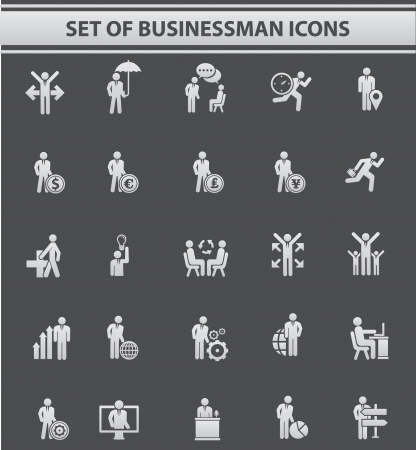 Set of Businessman icons,vector Vector
