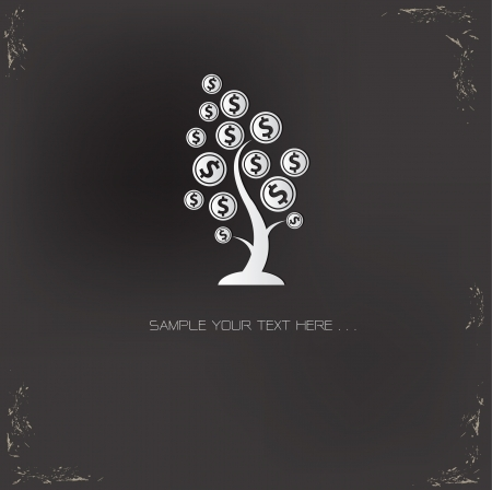 money tree: Tree money symbol,vector Illustration
