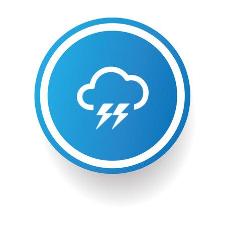 lightning strike: Storm symbol,Button on white background Illustration