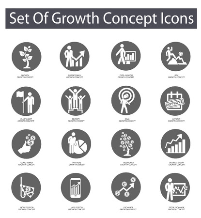 decision tree: Growth concept icons,Gray version on White background
