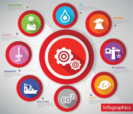 safety check: Infograf�a Industria, colorf versi�n ul Vectores