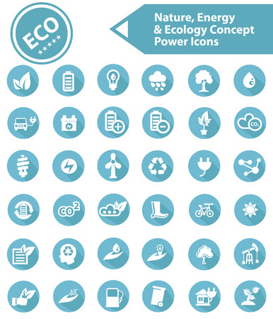 Ecology,Nature   Energy icons,Blue version Vector