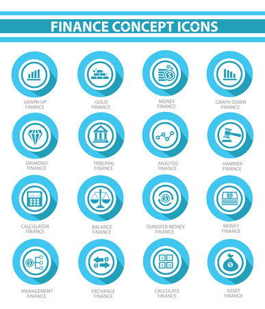 armchair shopping: Finance concept buttons,Blue version