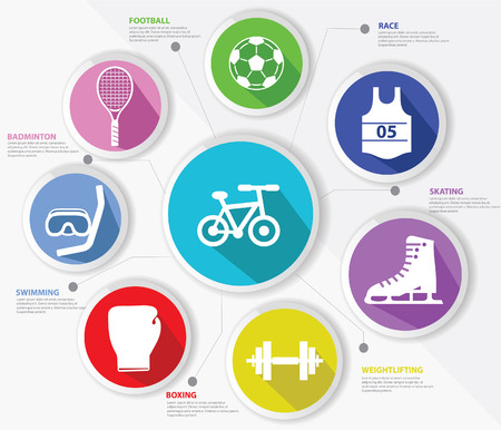 Sports concept,Colorful version Vector