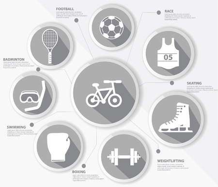 Sports concept,Gray version Vector