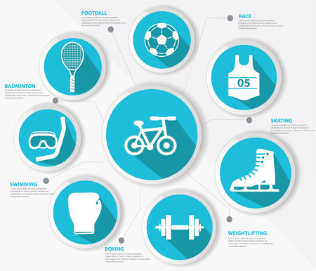 Sports concept,Blue version Vector