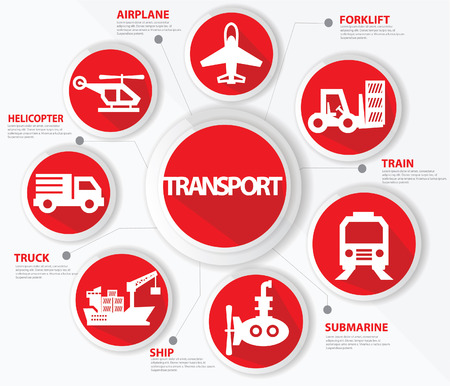 Transport and logistics concept,Red version Vector