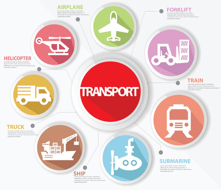 Transport and logistics concept,Colorful version Vector