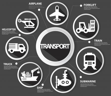 Transport and logistics concept,Black version Vector