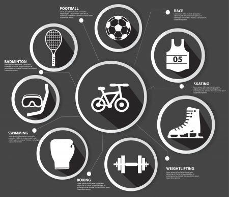 Sports concept,Black version Vector