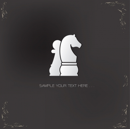 knights: Chess,Strategy symbol Illustration