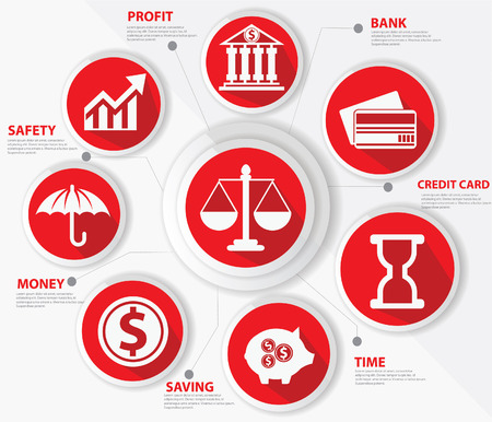 Business, Law and finance concept, Abstract, Red versie