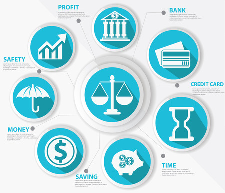 Business,Law and finance concept,Abstract,Blue version Stock Vector - 23871944