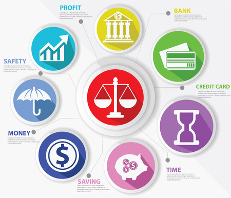 legal icon: Business,Law and finance concept,Abstract,Colorful version