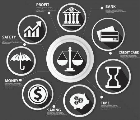 Business,Law and finance concept,Abstract,Black version Vector