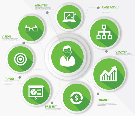 Business management concept,Green version